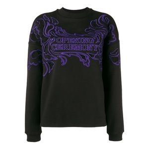 Opening Ceremony Embroidered Crew Neck Pullover